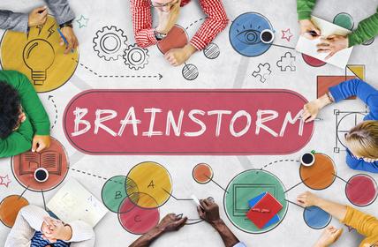 Brainstorm Ideas Creativity Process Diagram Concept